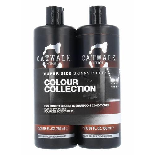 Tigi Catwalk Fashionista Brunette šampon šampon 750 ml + kondicionér 750 ml pro ženy