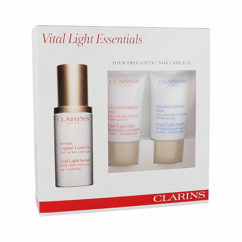 Clarins Vital Light pleťové sérum pleťové sérum 30 ml + denní pleťový krém 15 ml + noční pleťový krém 15 ml pro ženy