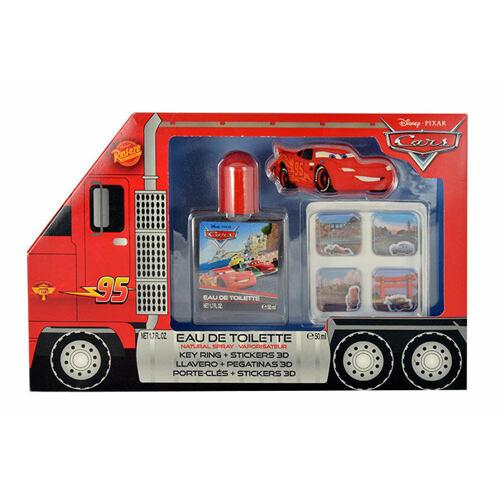 Disney Cars EDT EDT 50 ml + klíčenka + 3D samolepky Poškozená krabička Unisex
