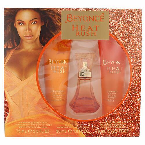 Beyonce Heat Rush EDT EDT 30 ml + tělový krém 75 ml + sprchový gel 75 ml pro ženy
