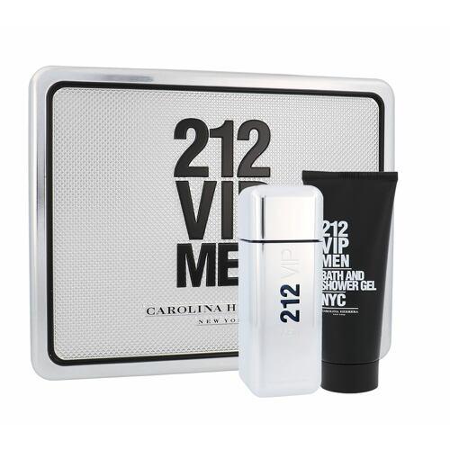 Carolina Herrera 212 VIP Men EDT EDT 100 ml + sprchový gel 100 ml Poškozená krabička pro muže