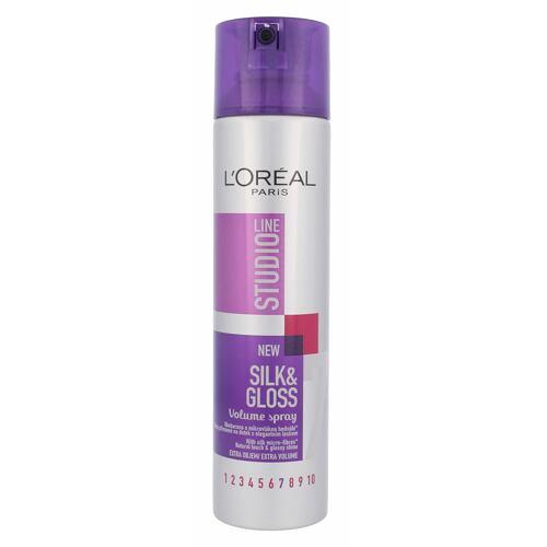 L´Oréal Paris Studio Line Silk & Gloss lak na vlasy 250 ml pro ženy