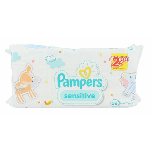 Pampers Baby Wipes Sensitive čisticí ubrousky 56 ks Unisex