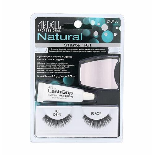 Ardell Natural umělé řasy umělé řasy Demi Wispies 101 1 pár + lepidlo na řasy 2,5 g + aplikátor pro ženy