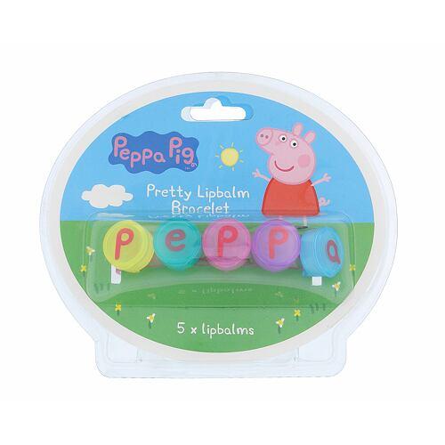 Peppa Pig Peppa Pretty Lipbalm Bracelet balzám na rty 5 g Unisex