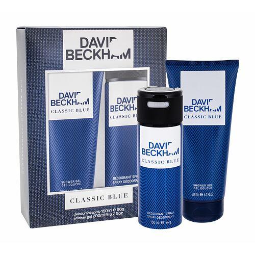 David Beckham Classic Blue deodorant deodorant 150 ml + sprchový gel 200 ml pro muže
