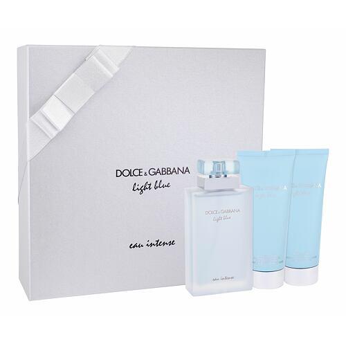 Dolce&Gabbana Light Blue Eau Intense EDP EDP 100 ml + tělový krém 100 ml + sprchový gel 100 ml pro ženy