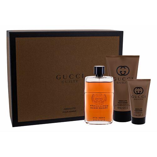 Gucci Guilty Absolute Pour Homme EDP EDP 90 ml + balzám po holení 50 ml + sprchový gel 150 ml pro muže
